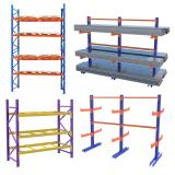 China Steel bolted long span middle duty shelving double side cantilever rack